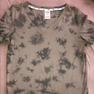 Camo V-Neck Shirt from PINK